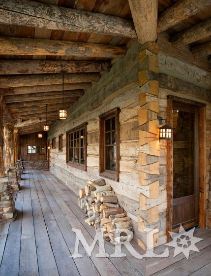A photo of our hand hewn timbers and rafter stock details throughout this Wasatch Retreat project.