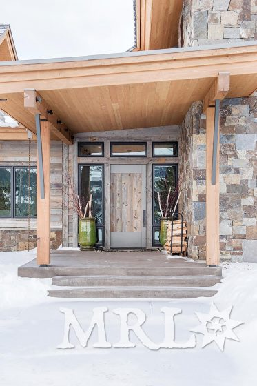 "A photo of our ""structural sticks"" (reclaimed, re-sawn Douglas fir timbers) and corral board siding as featured in this Alpine Greens project."